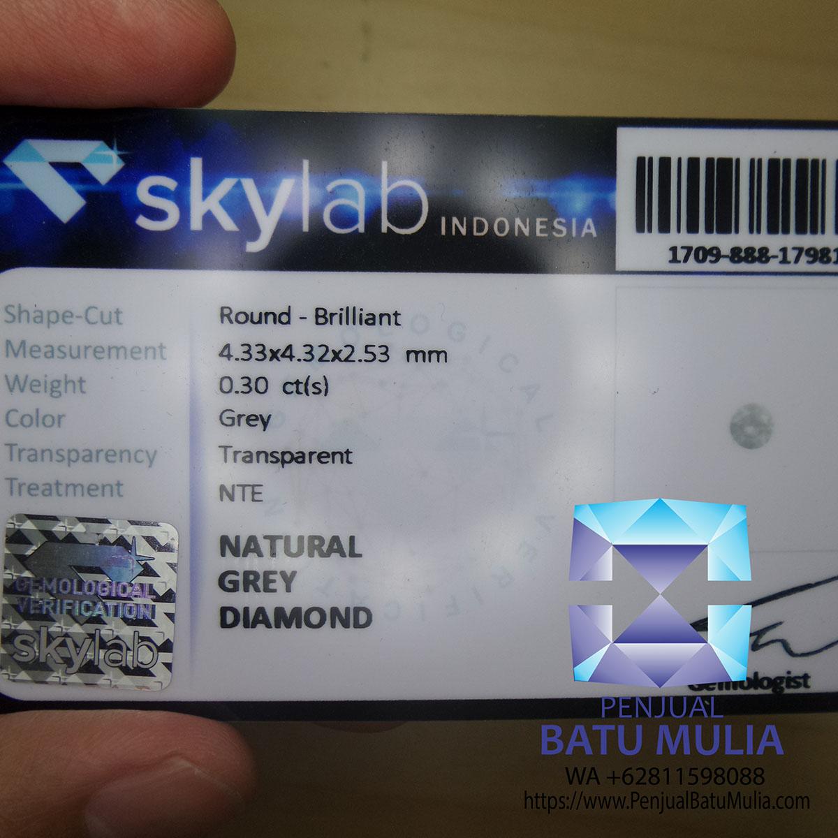 Grey Diamond Berlian warna Grey